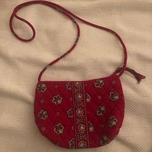 Small Red over the shoulder Vera Bradley bag